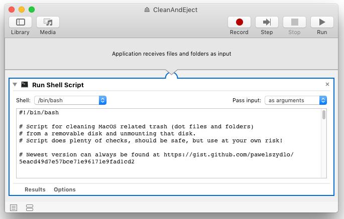 Script inside Automator app.